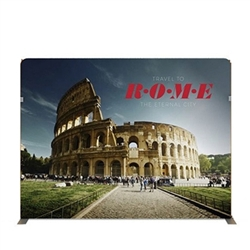 116in x 89in Panel F Waveline Media Display | Single-Sided Tension Fabric Exhibit