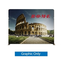 116in x 89in Panel F Waveline Media Display | Single-Sided Tension Fabric Only