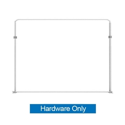 116in x 88.9in WaveLine Media Fabric Display by Makitso - Panel F - Hardware Only. Choose this easy, impactful and affordable display to stand out from your competition at your next trade show.
