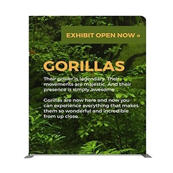 89in x 89in Panel G Waveline Media Display | Single-Sided Tension Fabric Exhibit
