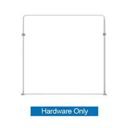 88.9in x 88.9in WaveLine Media Fabric Display by Makitso - Panel G - Hardware Only. Choose this easy, impactful and affordable display to stand out from your competition at your next trade show.