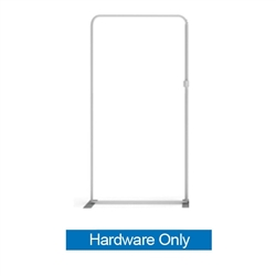 40in x 129.1in WaveLine Media Fabric Display by Makitso - Panel H - Hardware Only. Choose this easy, impactful and affordable display to stand out from your competition at your next trade show.