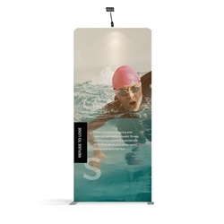 57in x 129.1in WaveLine Media Fabric Display by Makitso - Panel I - Single Sided. Choose this easy, impactful and affordable display to stand out from your competition at your next trade show.