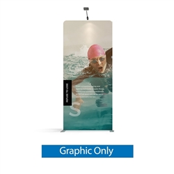 57in x 129.1in WaveLine Media Fabric Display by Makitso - Panel I - Single Sided Graphic Only. Choose this easy, impactful and affordable display to stand out from your competition at your next trade show.