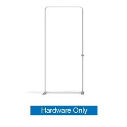 57in x 129in Panel I Waveline Media Frame | Backwall Hardware Only