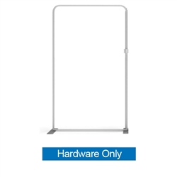 57in X 96.3in WaveLine Media Fabric Display by Makitso - Panel K - Hardware Only. Choose this easy, impactful and affordable display to stand out from your competition at your next trade show.