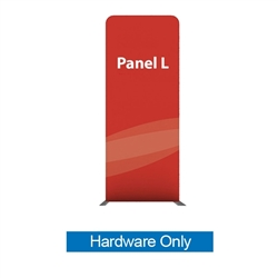 79in X 129.1in WaveLine Media Fabric Display by Makitso - Panel L - Hardware Only. Choose this easy, impactful and affordable display to stand out from your competition at your next trade show.