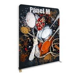 79in x 96in Panel M Waveline Media Display | Single-Sided Tension Fabric Exhibit