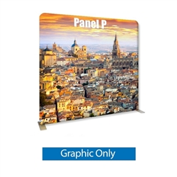96in x 89in Panel P Waveline Media Display | Single-Sided Tension Fabric Only