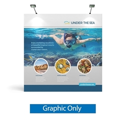 8ft x 8ft Makitso OneFabric Straight Display  - Single Sided Graphic Only - without End Caps .  Choose this easy, impactful and affordable display to stand out from your competition at your next trade show.