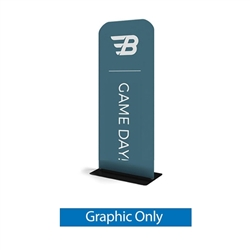 24in x 60in WaveLine Banner Stand -  Square Corners,  Double-Sided Graphic Only.  Choose this easy, impactful and affordable display to stand out from your competition at your next trade show.
