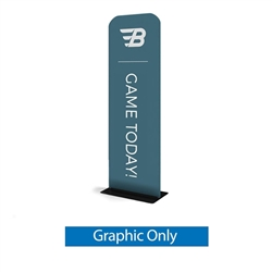 24in x 89in WaveLine Banner Stand -  Rounded Corners,  Single-Sided Graphic Only.  Choose this easy, impactful and affordable display to stand out from your competition at your next trade show.