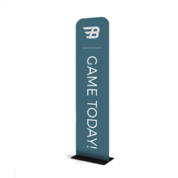 24in x 116in WaveLine Banner Stand -  Square corners,  Single-Sided Kit with White Base.  Choose this easy, impactful and affordable display to stand out from your competition at your next trade show.