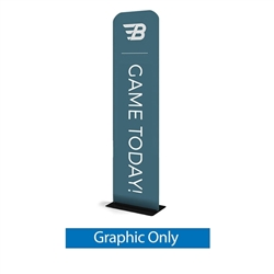24in x 116in Waveline Tension Fabric Banner Stand | Single-Sided Replacement Graphic