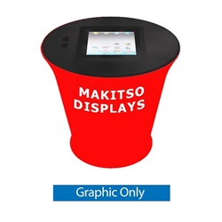 Ipad Counter is a perfect display for product demonstrations, samples and promotions. A portable counter also known as a tradeshow counter makes a great addition to any exhibition  booth. iPad counter, also known as an interactive kiosk.