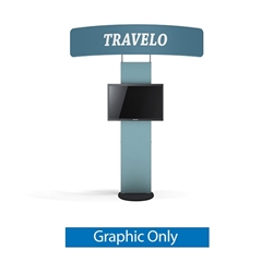 Standroid Black Fabric Replacement Graphic Only - by Makitso. Monitor Stand for Exhibits, Conferences and Events. The Standroid Monitor Stand is a screen/monitor display stand with a heavy wooden base.