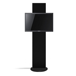 Standroid Black Base - by Makitso. Monitor Stand for Exhibits, Conferences and Events. The Standroid Monitor Stand is a screen/monitor display stand with a heavy wooden base.