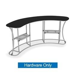 Waveline Infodesk Counter - 3 Panel Curved Concave - Hardware Only.  Choose this easy, impactful and affordable display to stand out from your competition at your next trade show.