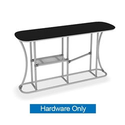 Waveline Infodesk Counter -  2 Panel Straight - Hardware Only.  Choose this easy, impactful and affordable display to stand out from your competition at your next trade show.
