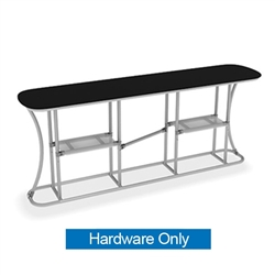 Waveline Infodesk Counter - 3 Panel Straight - Hardware Only.  Choose this easy, impactful and affordable display to stand out from your competition at your next trade show.