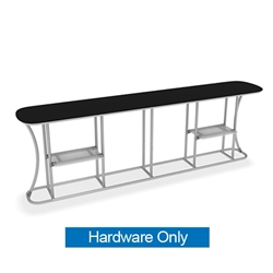 Waveline Infodesk Counter - 4 Panel Straight - Hardware Only.  Choose this easy, impactful and affordable display to stand out from your competition at your next trade show.
