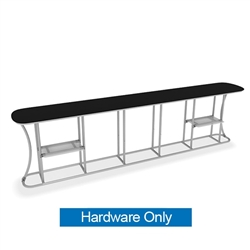 Waveline Infodesk Counter -  5 Panel Straight - Hardware Only.  Choose this easy, impactful and affordable display to stand out from your competition at your next trade show.