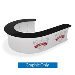 Waveline Infodesk Counter -  12J  - Graphic  Only.  Choose this easy, impactful and affordable display to stand out from your competition at your next trade show.