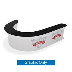 Waveline Infodesk Counter -  08J - Graphic  Only.  Choose this easy, impactful and affordable display to stand out from your competition at your next trade show.