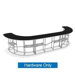 Waveline InfoDesk Trade Show Counter - Kit 12CC | Hardware Only