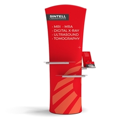 "79.5"" Outdoor Brandcusi Curved Banner Stand Frame w/Fabric Graphic Print, Double-sided and Bubble Round Base - by Makitso. Compact, lightweight and easy to assemble, this banner stand set up in minutes."
