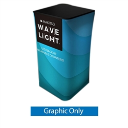 59in Wavelight Air Square Tower Backlit Fabric Graphic Print Only. The WaveLight Air Inflatable Backlit Circular Tower has an inner core thats durable, stable and strong enough to sit on without collapsing.
