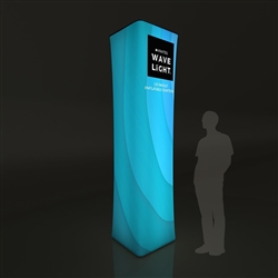 3' x 10' Backlit Inflatable Wavelight Air Tower. Brighten your advertisements with an illuminated light tower display. Backlit Towers make an excellent addition to any display