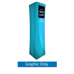 126in Wavelight Air Square Tower Backlit Fabric Graphic Print Only. The WaveLight Air Inflatable Backlit Circular Tower has an inner core thats durable, stable and strong enough to sit on without collapsing.
