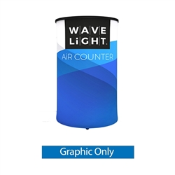 WaveLight Air Backlit Inflatable Circular Counter Graphic Only (2ft x 2ft x 3ft H). The WaveLight Air Inflatable Backlit Counter has an inner core thats durable, stable and strong enough to sit on without collapsing.