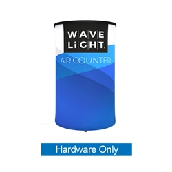 WaveLight Air Backlit Inflatable Circular Counter Hardware Only (2ft x 2ft x 3ft H) . The WaveLight Air Inflatable Backlit Counter has an inner core thats durable, stable and strong enough to sit on without collapsing.