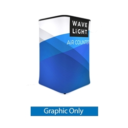 WaveLight Air Backlit Inflatable Square Counter Graphic Only (2ft x 2ft x 3ft H). The WaveLight Air Inflatable Backlit Counter has an inner core thats durable, stable and strong enough to sit on without collapsing.