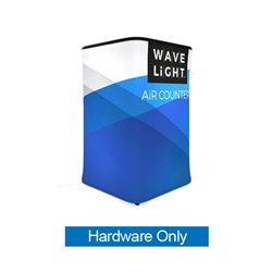 WaveLight Air Backlit Inflatable Square Counter Hardware Only  (2ft x 2ft x 3ft H). The WaveLight Air Inflatable Backlit Counter has an inner core thats durable, stable and strong enough to sit on without collapsing.