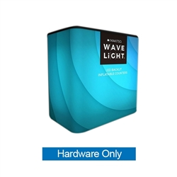 WaveLight Air Backlit Inflatable Rectangular Counter Hardware Only (3ft x 2ft x 3ft H). Perfect for product launches, food sampling, ticketing, retail counters, promotional displays, exhibition counters and more.