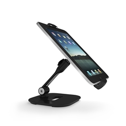 Universal Weighted Tablet / iPad Holder - Black | Counters, Podiums, Tabletop