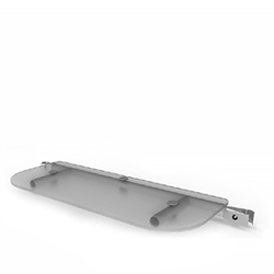 WaveLine Merchandiser - Plexiglass Shelf, Clear  This is the product that will enable a waveline media panel to hold a video monitor.