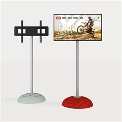 "WaveLine MonitorStand with VESA Universal Monitor Mount. For Trade Shows, Events Presentations and Showrooms. Add video and attract more attention with the WaveLine® MonitorStand. Our portable monitor holder can hold up to 55"" TV or 44 lbs."