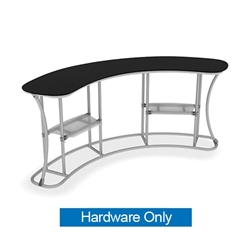 Middle Shelf A for Concave Curved Infodesk Counter.  Portable and lightweight, the counter can be assemble quickly on location.