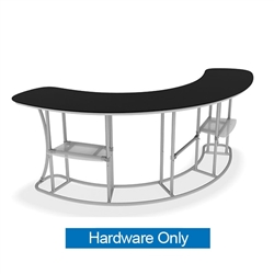 Middle Shelf A for Convex Curved Infodesk Counter. Portable and lightweight, the counter can be assemble quickly on location.