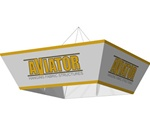 Aviator Tapered Square 10ft x 36in Hanging Tension Fabric Structures