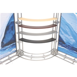Orbital Express 45 Degree Shelf for Truss Exhibits. Designed for the Orbital Truss exhibits systems Orbital Express Truss Displays are emerging as the #1 choice for jaw dropping trade show exhibit booths. Choose from a wide range of truss parts and tools