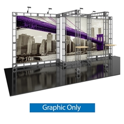 10ft x 20ft Polaris Orbital Express Truss Replacement Fabric Graphics. Create a beautiful trade show display that's quick and easy to set up without any tools with the 10x10 Polaris Truss Display. Truss displays are the most impactful exhibits