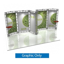 10ft x 20ft Electra Orbital Express Truss Replacement Fabric Graphics. Create a beautiful trade show display that's quick and easy to set up without any tools with the 10ft x20ft Electra Truss Display. Truss displays are the most impactful exhibits