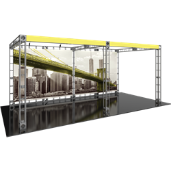 10ft x 20ft Luna-2 Orbital Express Trade Show Truss Display Hardware Only is a complete truss exhibit, professionally designed to fit a 10ft × 20ft trade show booth space. Orbital truss displays are most popular trade show displays