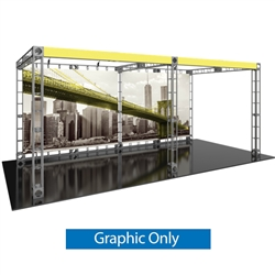 10ft x 20ft Luna-2 Orbital Express Trade Show Truss Display Replacement Fabric Graphics. Create a beautiful trade show display that's quick and easy to set up without any tools with the 10ft x 20ft Luna-2 Truss Display.