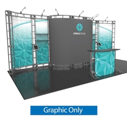 10ft x 20ft Orbea Orbital Express Trade Show Truss Display Replacement Fabric Graphics. Create a beautiful trade show display that's quick and easy to set up without any tools with the 10ft x 20ft Orbea Truss Display.
